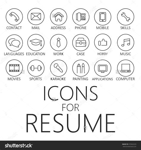 Resume Icons by Resume Icons Free Www Imgkid The Image