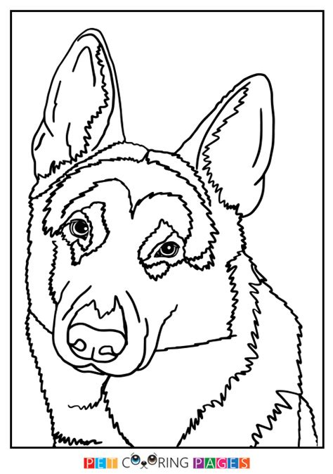 coloring pages of german shepherd puppies german shepherd dog coloring page zileart