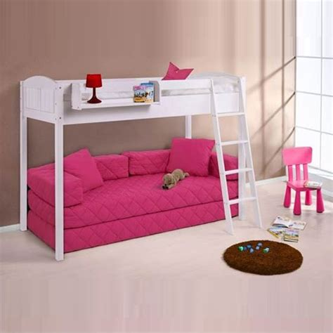 Childrens High Sleeper by Ida Ohne 150cm Children High Sleeper Bed In White 23777