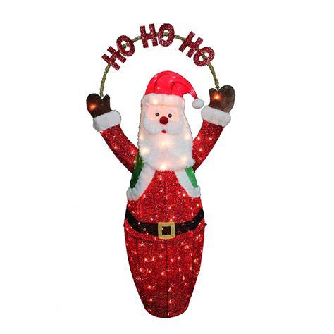 trim a home outdoor christmas decorations trim a home 174 sparkling mesh santa 60 quot seasonal