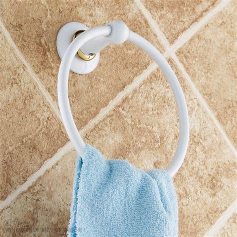 white towel ring circle fashion bathroom hardware
