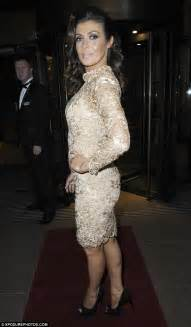 Lash 26mm Dress To Impress kym marsh dolls up in gold lace dress for a out in