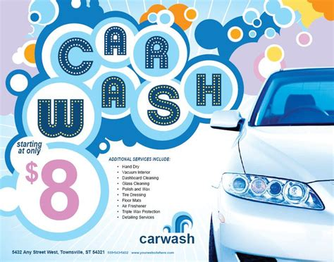 17 Best Images About Car Wash Flyer Inspiration On Pinterest Discover More Ideas About Cars Car Wash Poster Template