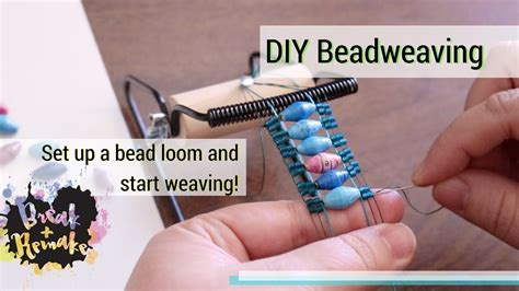 how to bead weave without a loom ethnic tribal bracelet yellow white blue recycled
