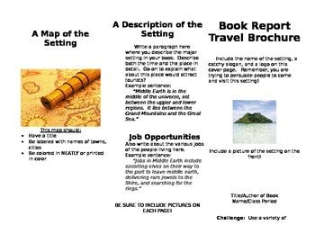 travel brochure book report book report travel brochure by middle school minds
