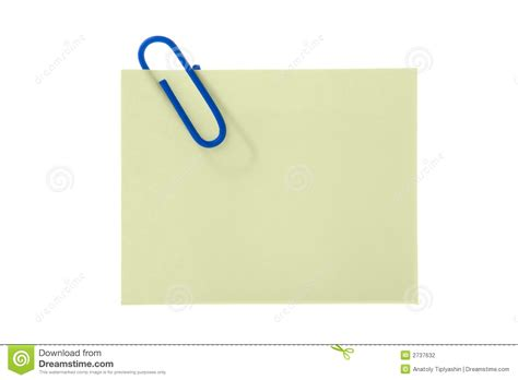 How To Make A Sticker Out Of Paper - paper yellow sticker with clip stock photo image 2737632