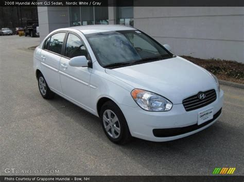 2008 Hyundai Accent Gls by 2008 Hyundai Accent Gls Sedan In Nordic White Photo No