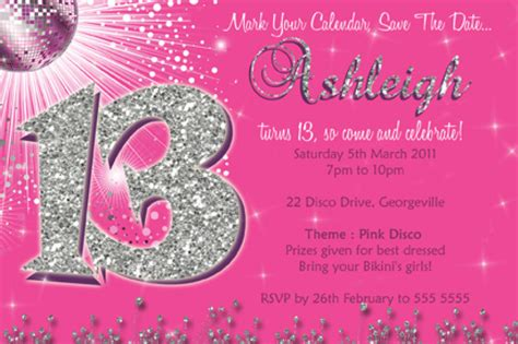 13th birthday invitations templates free 13th birthday invitation template orderecigsjuice info