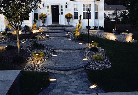 landscape lighting ideas walkways low voltage landscape lighting