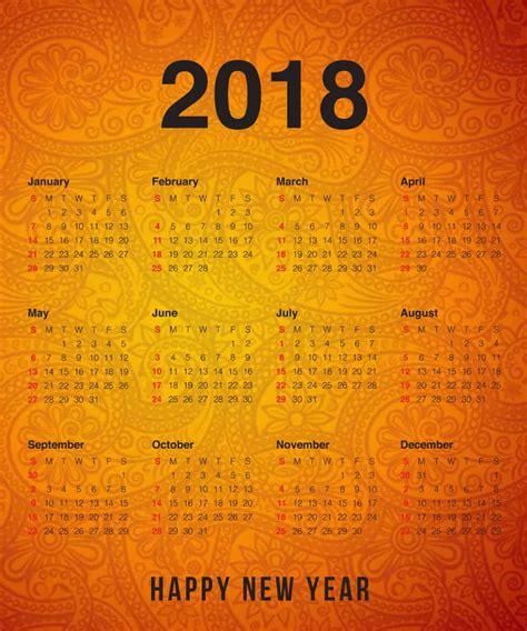 new year activities 2018 happy new year 2018 calendar images mine vibe
