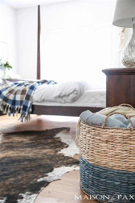How To Decorate A Blue And White Bedroom by Blue And White Fall Decor In The Master Bedroom Maison