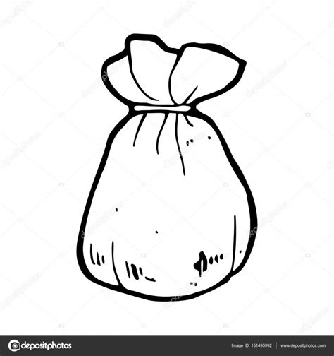 Illustration Pouch pouch bag or sack flat icon stock vector