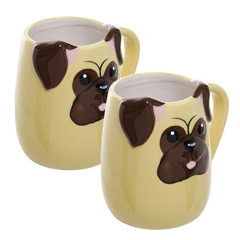 pug themed gifts pug themed tea cups set of two gifts