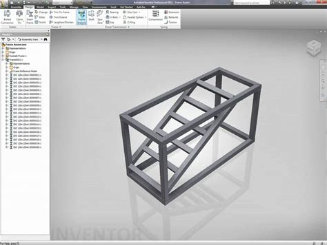 frame design maker frame generator autodesk inventor 2011 youtube