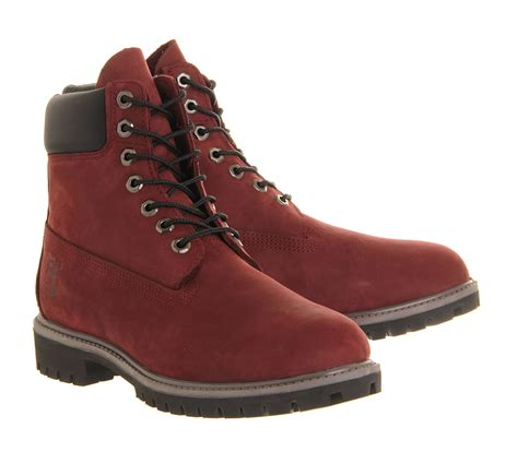 timberland 6 in buck boots in brown for chocolate lyst