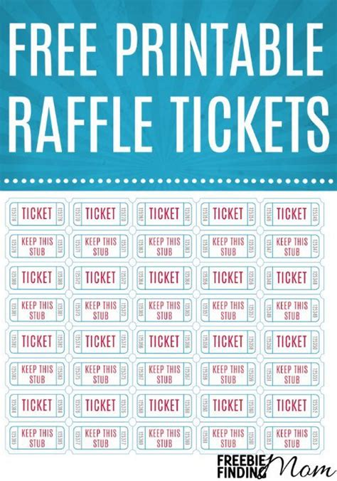inkjet printable tickets free printable raffle tickets free printables the o