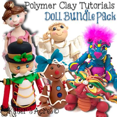 Clay Pack polymer clay doll tutorials bundle pack of d pdf figurine