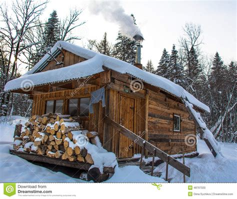 wooden russian house in winter covered with snow stock taiga house stock photo image 48797020