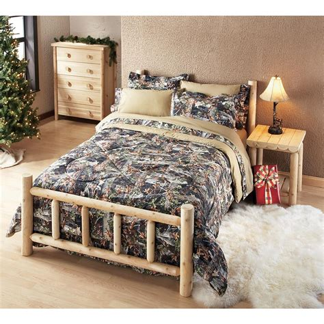 cedar log bed 101281 bedroom sets at sportsman s guide
