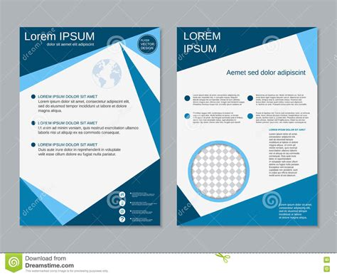 professional booklet template professional two sided vector booklet design stock vector