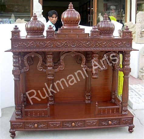 code 29 wooden carved teakwood temple mandir furniture