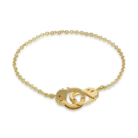 gold toned handcuffs anklet ankle bracelet chain 9 5 quot ebay