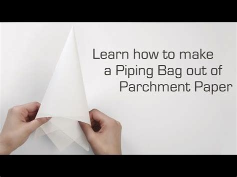 A Paper Piping Bag - learn how to fold a parchment bag for piping
