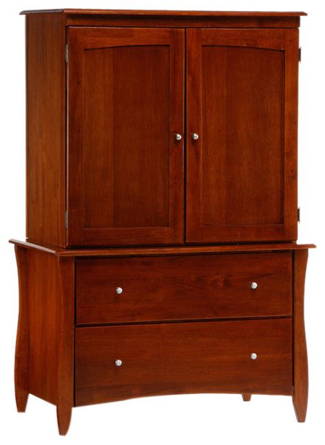 cherry finish armoire night and day furniture home bedroom clove armoire in