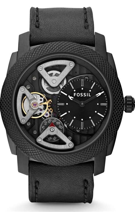 Fossil Me1128 Machine Twist fossil machine twist leather black me1121 fossil style fossil