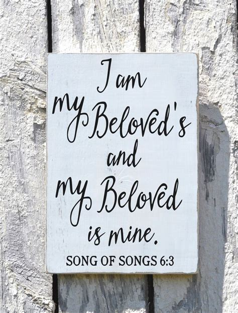 Wedding Themed Bible Verses by Wedding Sign Scripture Plaque I Am My Beloved S Couples