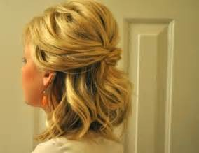 half up hairstyle for short hair collections