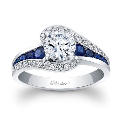 Blue Sapphire 9 95 Ct barkev s blue sapphire engagement ring 7898lbsw