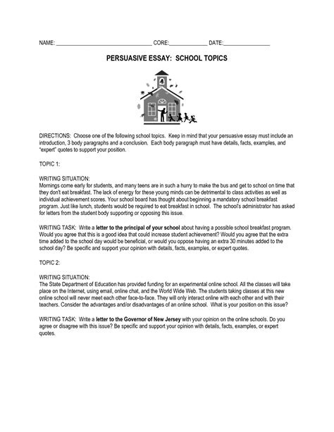 essay sles for elementary students essay prompts middle school