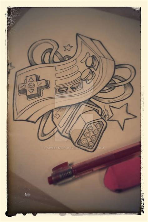 nintendo controller tattoo nes controller desing by sweetnspooky on deviantart