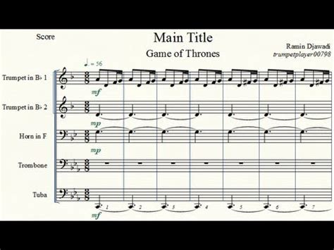 Extenuating Circumstances by Game Of Thrones Main Title Brass Quintet Youtube