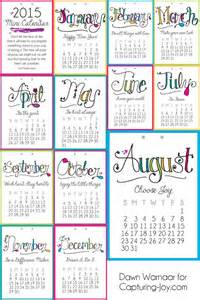 Mini Desk Calendar 2015 Template 2015 Printable Mini Calendar Capturing Joy With Kristen Duke