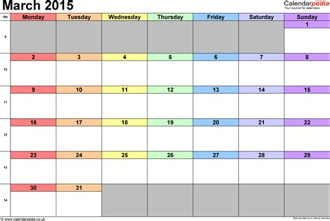 free printable 2015 monthly calendar template example printable