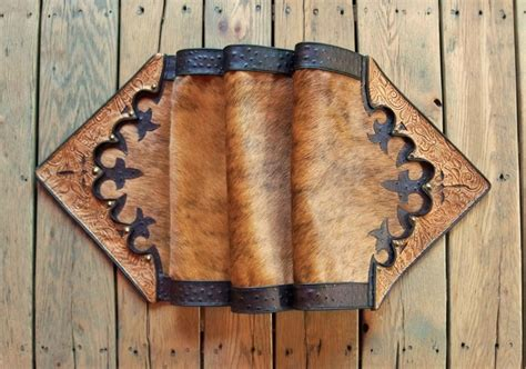 vintage western home decor western leather table runner home decor vintage style tan