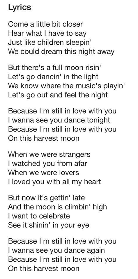 moon lyrics neil quot harvest moon quot lyrics yes i