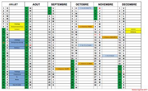Calendrier Officiel 2017 Calendrier
