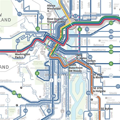 portland transit map new official map trimet system map