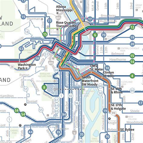 portland light rail map official map trimet system map