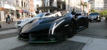Lamborghini Veneno On Road Lamborghini Veneno Roadster On Rodeo Drive