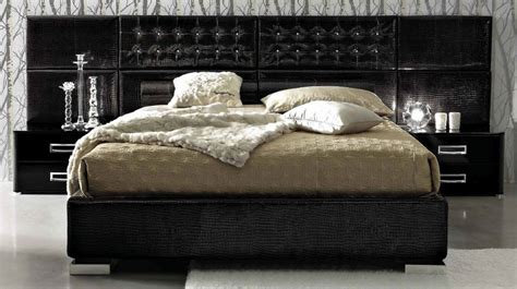 bed in italian la star 06 luxurious black leather bed made in italy