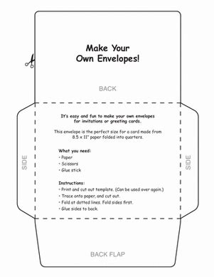 make your own envelope make your own envelopes worksheet education com