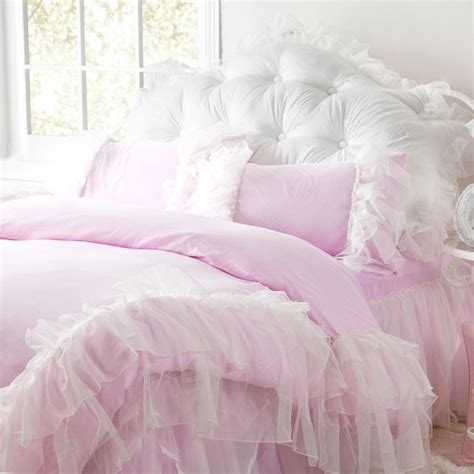pink shabby chic bedding shabby chic ruffled bedding