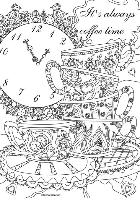 coloring pages for adults coffee 391 best images about coffee tea coloring pages for