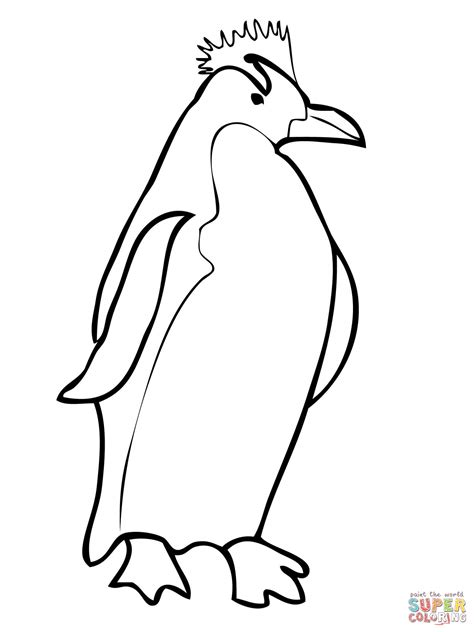 royal penguin coloring page image gallery macaroni penguin drawing