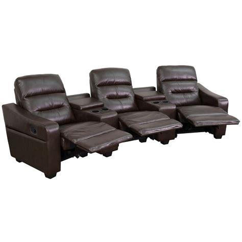 futura leather recliner flash furniture futura series 3 seat reclining brown