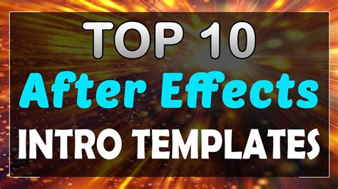 top 10 intro templates 2017 after effects cc cs6 free